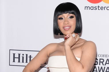 Recording artist Cardi B attends the Clive Davis and Recording Academy Pre-GRAMMY Gala and GRAMMY Salute to Industry Icons Honoring Jay-Z on January 27, 2018.