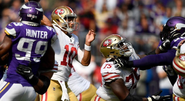 San Francisco Niners and Minnesota Vikings