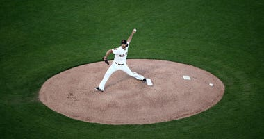 Madison Bumgarner on the mound   Getty Images