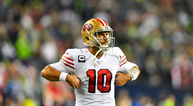 Photo of 49ers quarterback Jimmy Garoppolo.