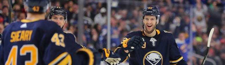 A strong third period sends the Sabres past the Leafs, 5-2