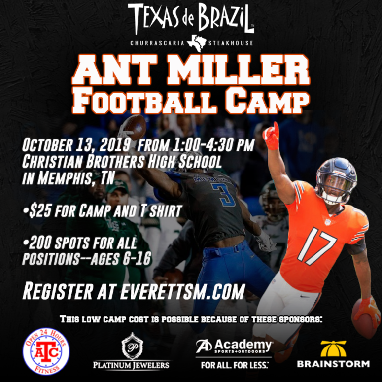 Ant Miller Football Camp October 2019 CBHS
