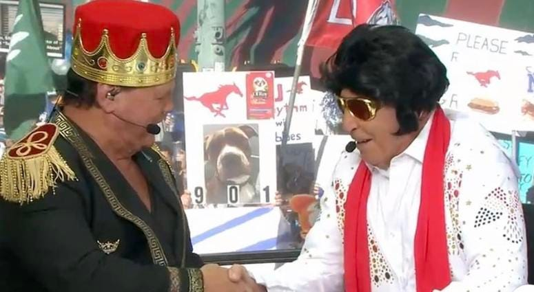 Jerry Lawler the King and Lee Corso