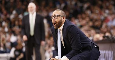 Memphis Grizzlies head coach David Fizdale reacts to a call during the second half in game five of the first round of the 2017 NBA Playoffs against the San Antonio Spurs at AT&T Center.