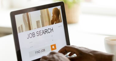 Job Postings on a laptop