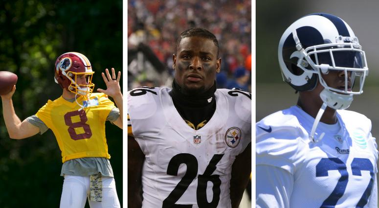 Washington Redskins Kirk Cousins, Pittsburgh Steelers Le'Veon Bell, Los Angeles Rams Trumaine Johnson