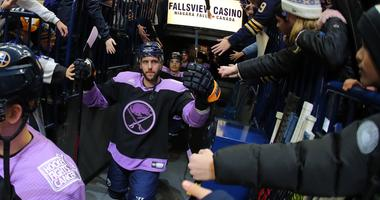 The Sabres celebrate Hockey Fights Cancer