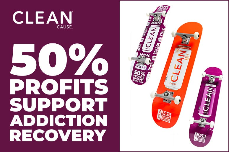 clean cause skateboard