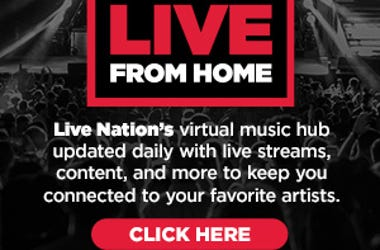 Live From Home is a virtual hub featuring artist's live streams, new music, etc