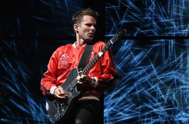 Matt Bellamy of Muse performs at Perfect Vodka Amphitheater