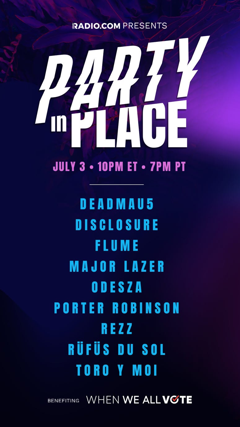 RADIO.COM is throwing the biggest summer dance party this 4th of July weekend with a powerhouse livestream concert event featuring the most iconic names in music. The weekend will include performances, conversations, DJ sets, and intimate jam sessions wit
