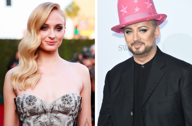 Sophie Turner and Boy George