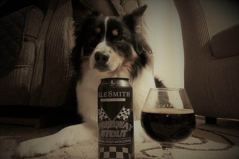 1 can. 1 glass. 1 dawg. Good times.