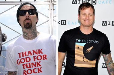 Tom DeLonge and Travis Barker