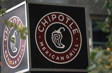 A Chipotle restaurant sign