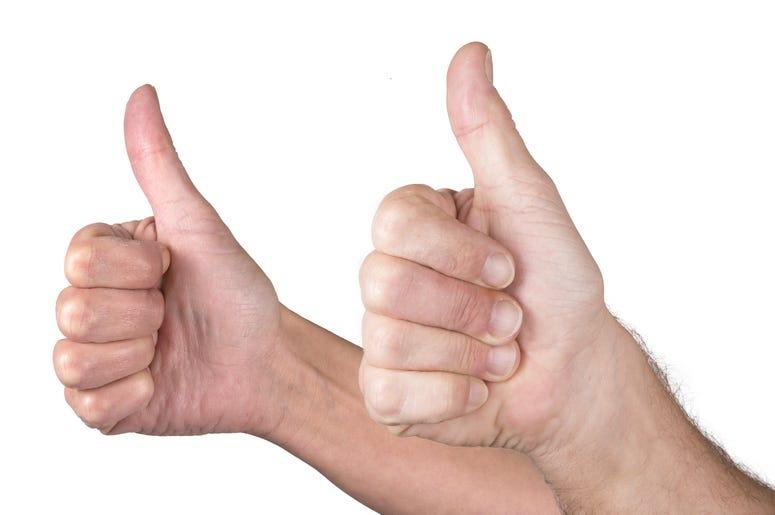 likes thumbs up