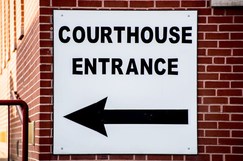 courthouse entrance sign