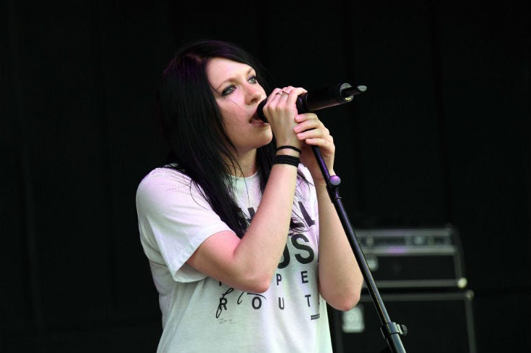 K.Flay performs during the Undertow Music Festival at the Pompano Beach Amphitheater.