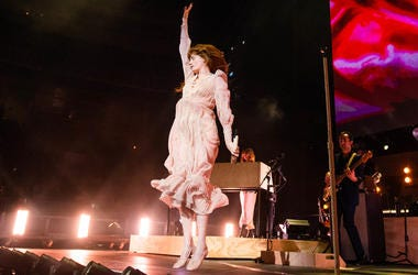Florence Welch of Florence and the Machine performs onstage at The SAP Center during the ALT 105.3 Not So Silent Night in San Jose, California