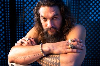 """Dec 13, 2018; Los Angeles, CA, USA; Portrait of Jason Momoa who stars as the title character in the film \""""Aquaman.\"""""""