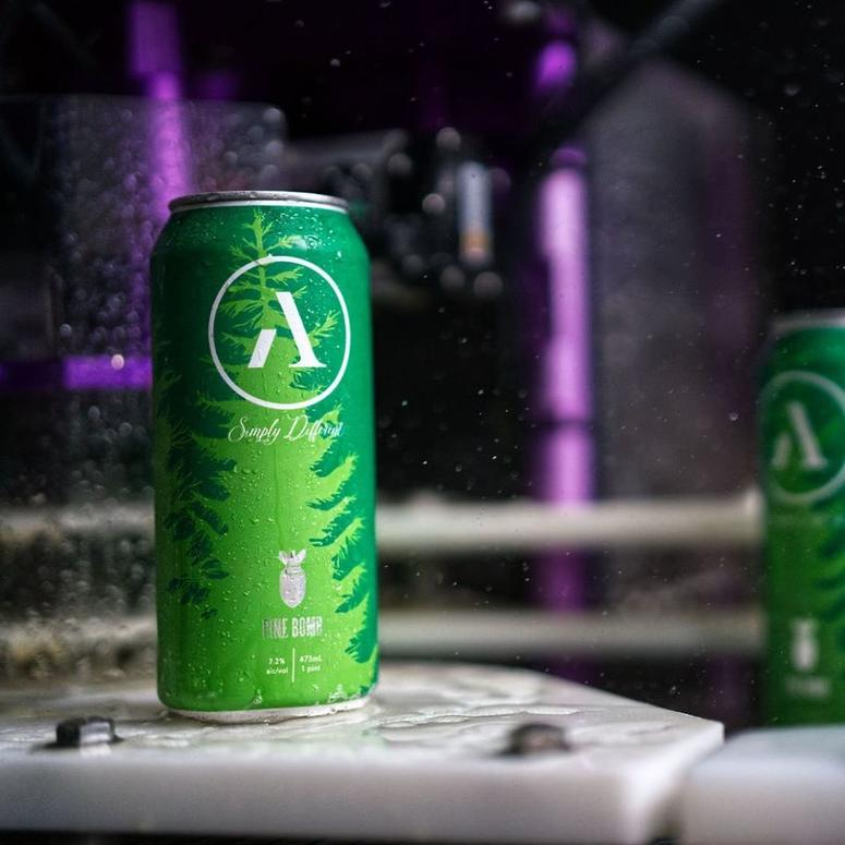Abnormal Beer Co. Pine Bomb IPA available in four-packs seasonally