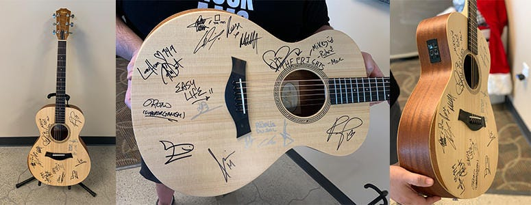 Signed guitar from Coachella 2019