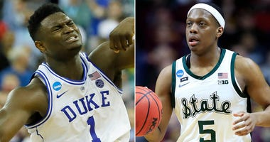 Zion Williamson of Duke, Cassius Winston of Michigan State