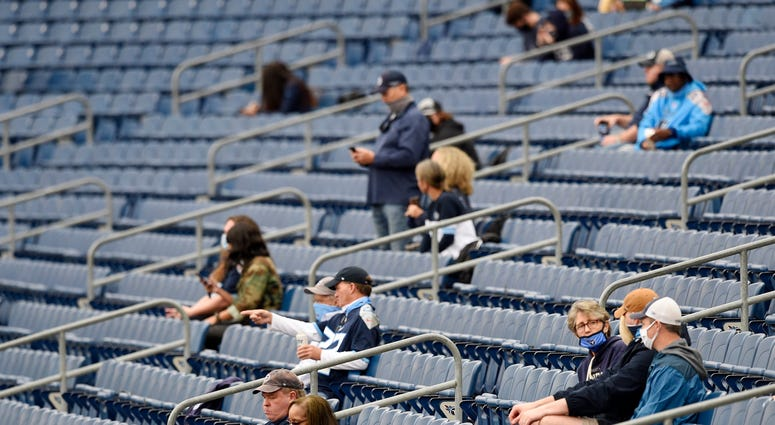 Socially Distanced Fans in Stands