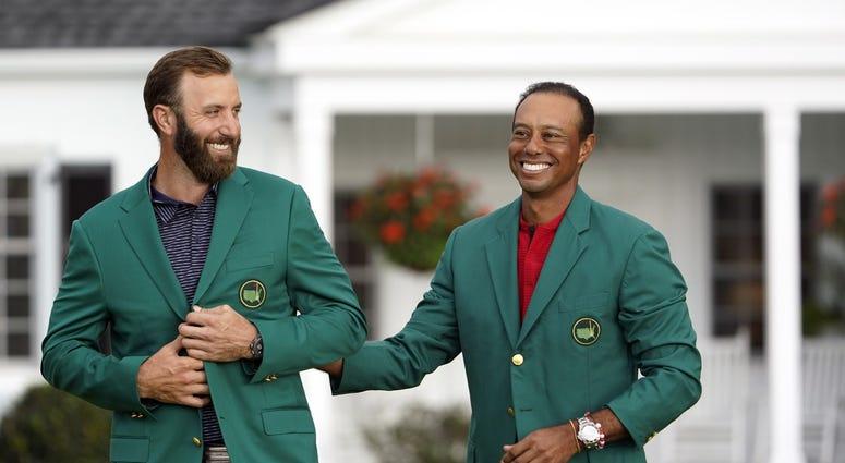 Dustin Johnson & Tiger Woods