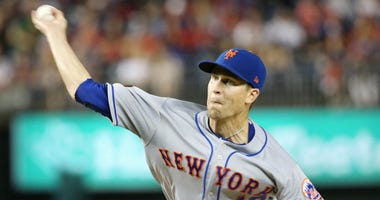 Jacob deGrom delivers a pitch for the New York Mets.