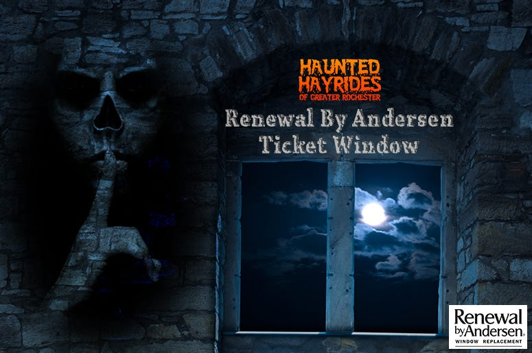 Spooky ticket window