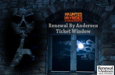 Spooky ticket window