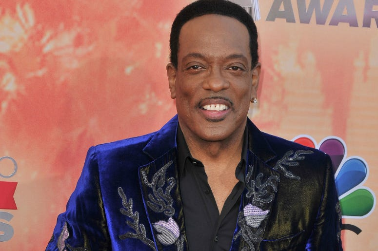 Charlie Wilson arrives at The Shrine Auditorium in Los Angeles, CA