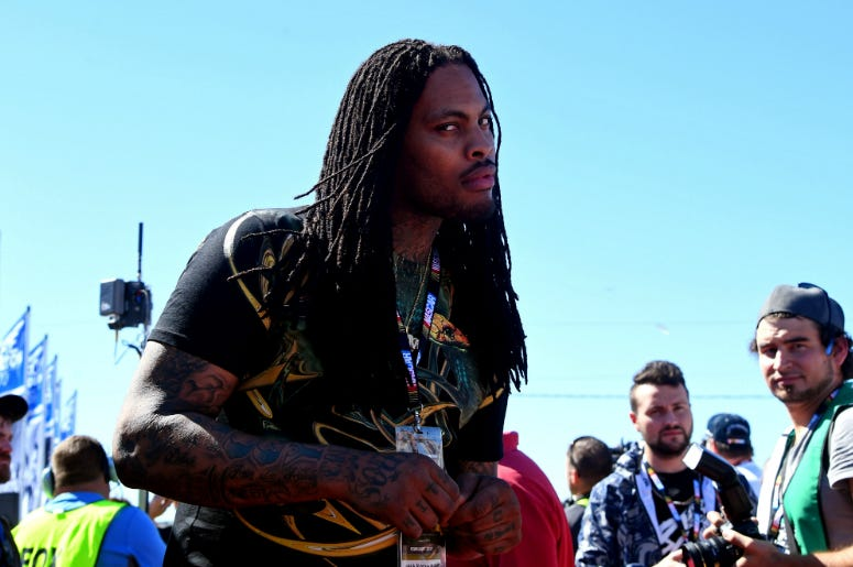 Rapper Waka Flocka Flame before the 2017 Daytona 500 at Daytona International Speedway.