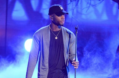 Bryson Tiller performs on the 2016 BET Awards at the Microsoft Theatre on June 26, 2016, in Los Angeles, California.