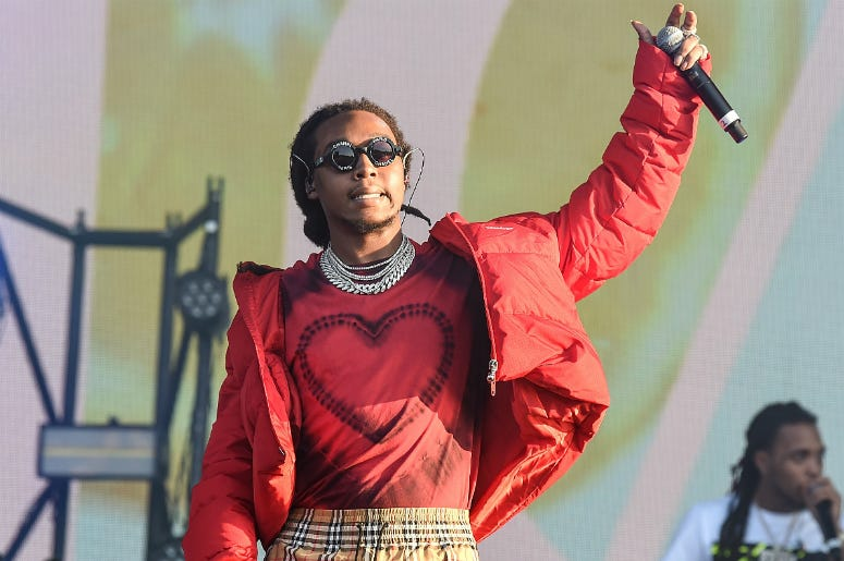 Takeoff of Migos perform on the Main Stage during Wireless Festival 2018 at Finsbury Park on July 7, 2018 in London, England.