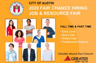 City of Austin Fair Chance Hiring Job & Resource Fair