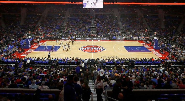 Detroit Pistons court
