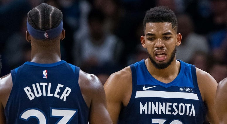 Jimmy Butler, Andrew Wiggins, Karl-Anthony Towns