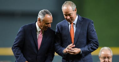 Rob Manfred and Jim Crane