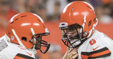 Baker Mayfield and Nick Chubb