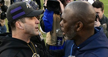 Anthony Lynn and John Harbaugh
