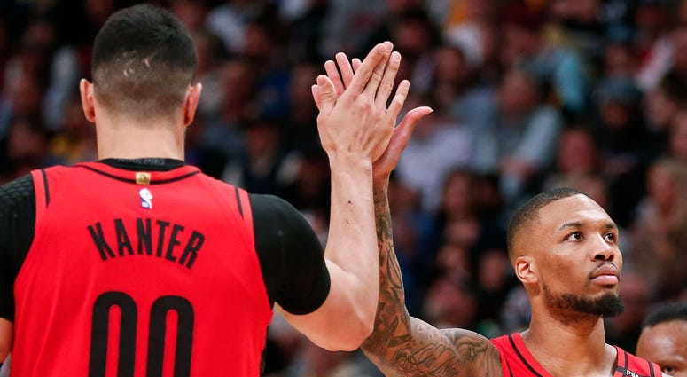 Damian Lillard and Enes Kanter