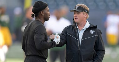 Jon Gruden and Antonio Brown