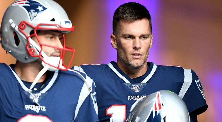 Brian Hoyer and Tom Brady