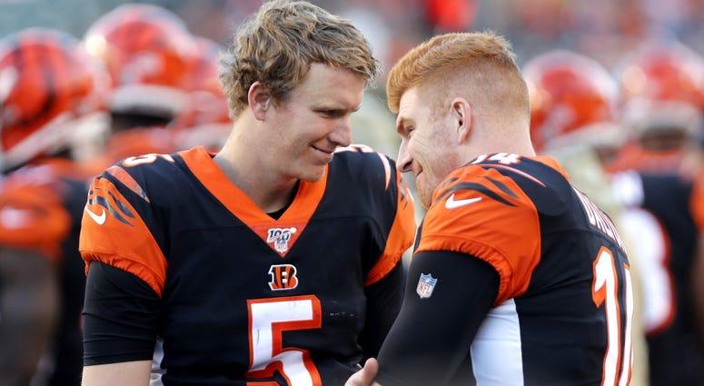 Ryan Finley and Andy Dalton