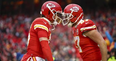 Patrick Mahomes and Travis Kelce