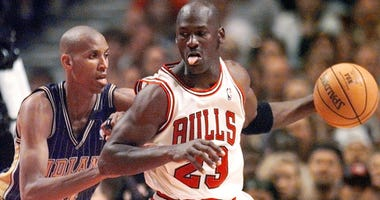 Michael Jordan and Reggie Miller