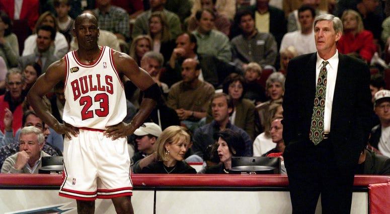 Jerry Sloan and Michael Jordan