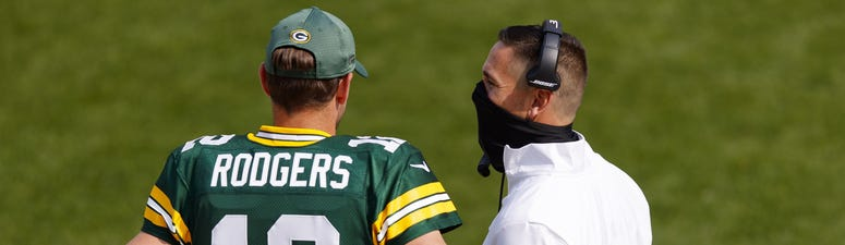Aaron Rodgers and Matt LaFleur